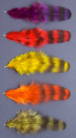 Guinea Fluffy NOT FOR NAIL WORK Feather Red Feathers Dyed Fowl