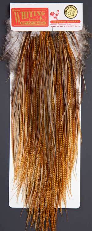 whitings metz dry fly cree barred ginger neck cape top bundles x 5
